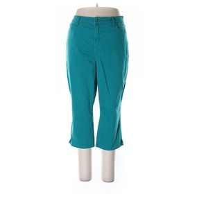 Not Your Daughter's Teal Capris